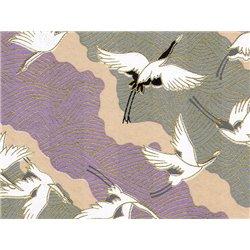 Washi papier motief kraanvogels - JP0790