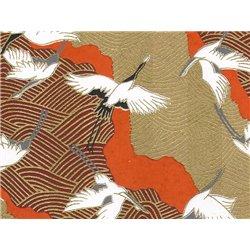 Washi papier motief kraanvogels - JP0792