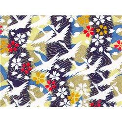 Washi papier motief kraanvogels en sakura bloemen - JP0820