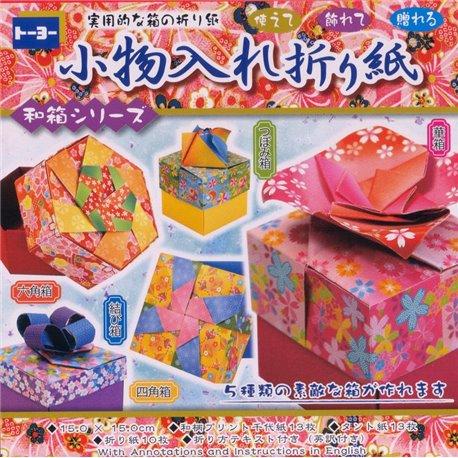 Origami papier 15x15 cm - doosjes vouwen