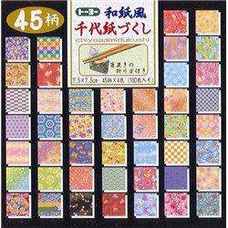 Origami papier 7,5x7,5 cm - Chiyogamidukushi
