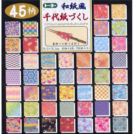 Origami papier 15x15 cm - Chiyogamidukushi