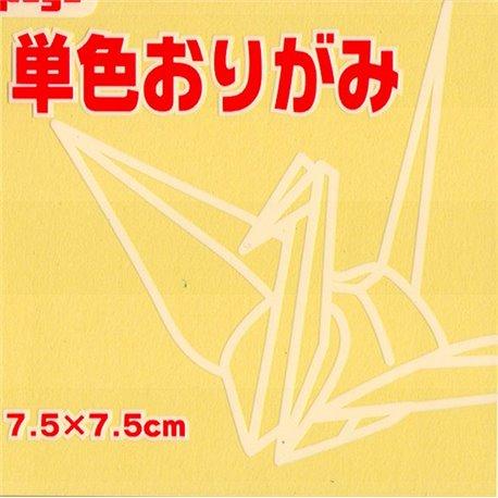 Eén kleur Origami 7,5x7,5 cm - Geel