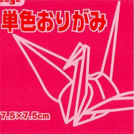 Eén kleur Origami 7,5x7,5 cm - Roze/Rood