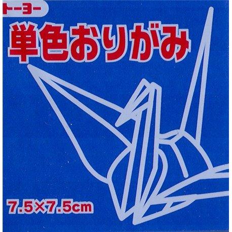Eén kleur Origami 7,5x7,5 cm - Blauw