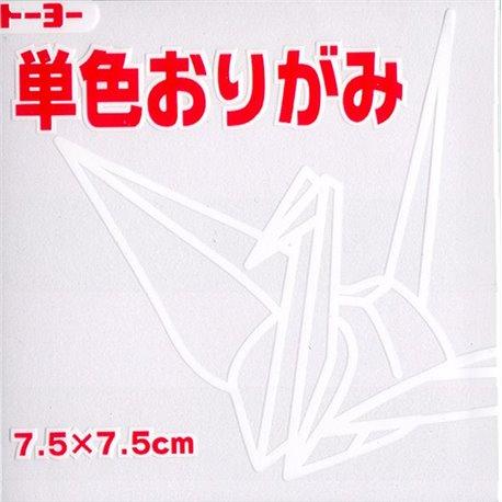Eén kleur Origami 7,5x7,5 cm - Wit