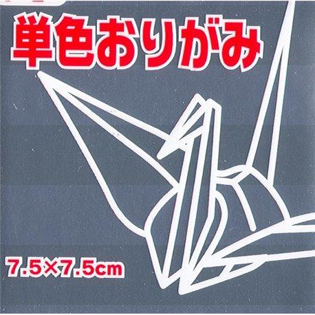 Eén kleur Origami 7,5x7,5 cm -Zilver