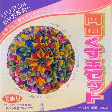 "Origami papier 11,8x11,8 cm - Kusudama ""Temari"""