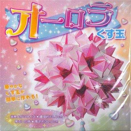 "Origami papier - Kusudama ""Aurora"" groot"
