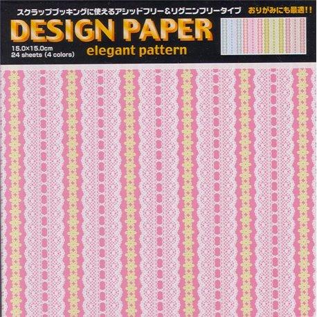 Origami papier 15x15 cm - elegant kant