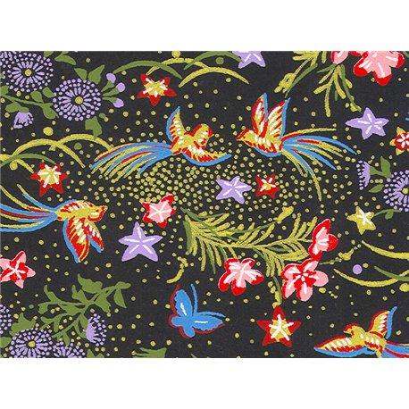 Washi papier motief vogels, bloemen en vlinders - JP0845