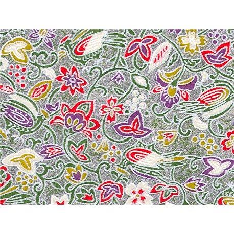 Washi papier motief vogels en bloemen - JP0850