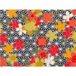 Washi papier motief bloemen en lijnen - JP0865