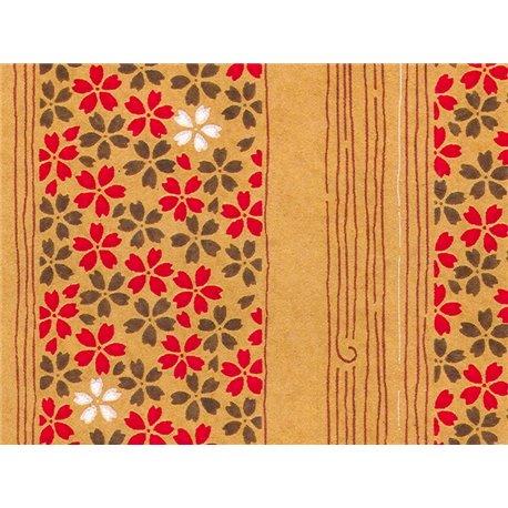 Washi papier motief bloemen en lijnen - JP0871