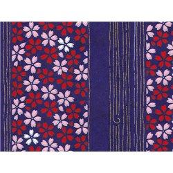 Washi papier motief bloemen en lijnen - JP0872