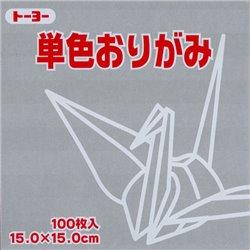 Eén kleur Origami 15x15 cm - Grijs