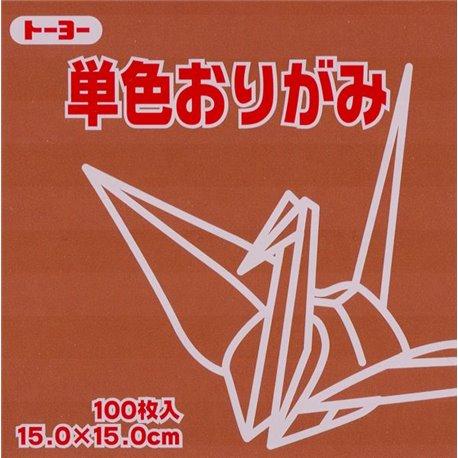 Eén kleur Origami 15x15 cm - Bruin