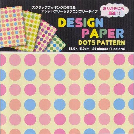Origami papier 15x15 cm - stippen (dots)