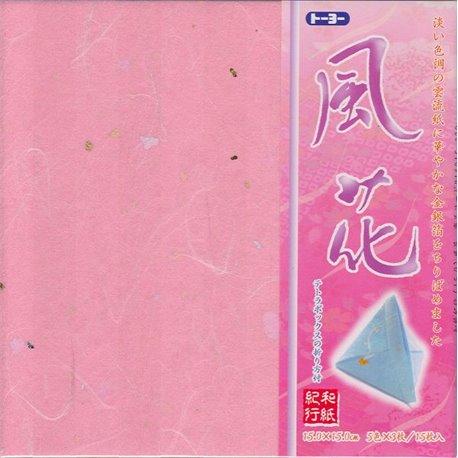 "Origami papier 15x15 cm - Washi Kiko ""Bloem"""