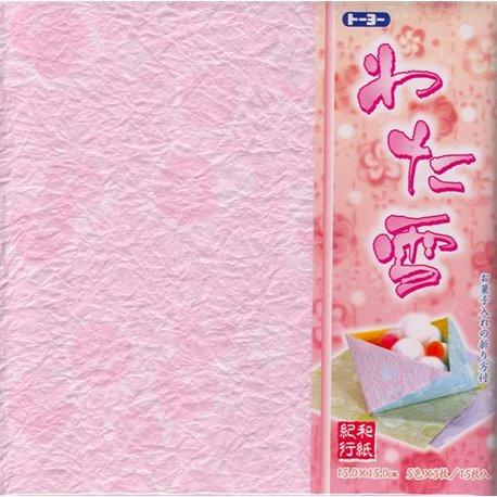 """Origami papier 15x15 cm - Washi Kiko """"Sneeuw"""""""
