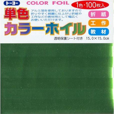 Eén kleur Origami folie 15x15 cm - Groen (100 vel)