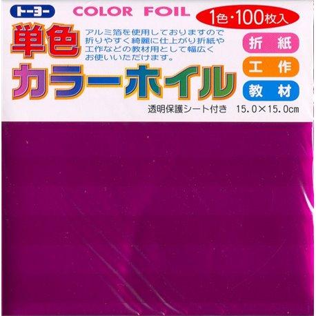 Eén kleur Origami folie 15x15 cm - Roze (100 vel)