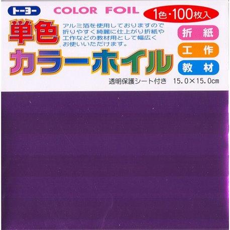 Eén kleur Origami folie 15x15 cm - Lila (100 vel)