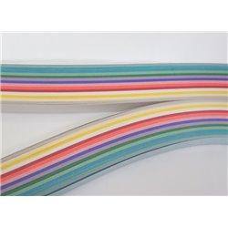 Filigraan papier 14 kleuren met glans ~ 10mm