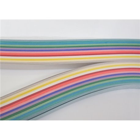Filigraan papier 14 kleuren met glans ~ 13mm