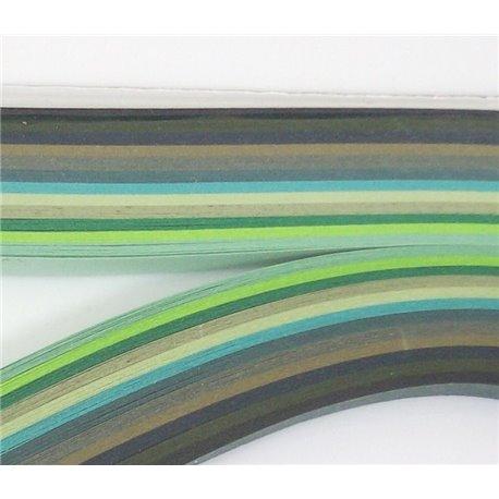 Filigraan papier groen ~ 13mm
