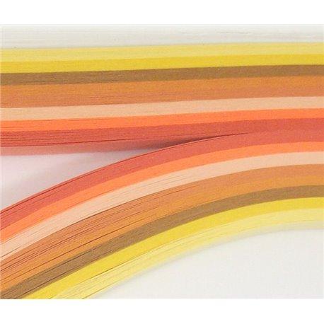 Filigraan papier oranje/geel ~ 13mm