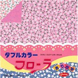 Origami papier 15x15 cm - tweezijdig bloemen