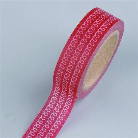 Masking Tape - Krullen rood