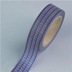 Masking Tape - Krullen zwart
