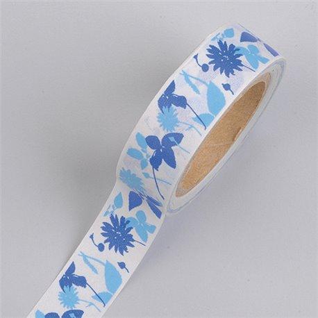 Masking Tape - Bloemen blauw
