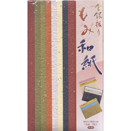 Origami papier 36x26 cm - Goud Momi Washi