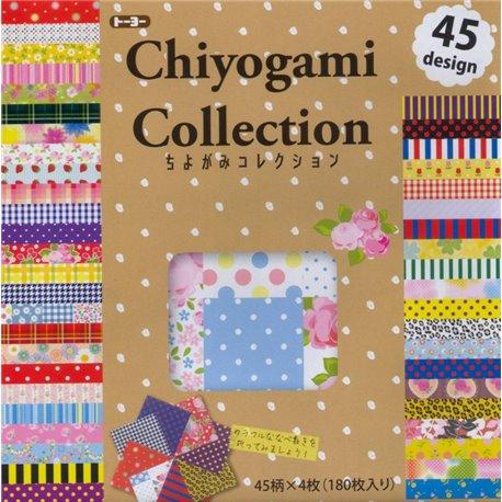 Origami papier 15x15 cm - Chiyogami collectie