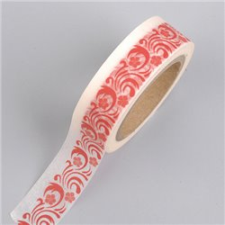 Masking Tape - Ornament rood