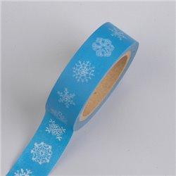 Masking Tape - Sneeuwvlokken blauw