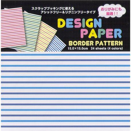 Origami papier 15x15 cm - strepen