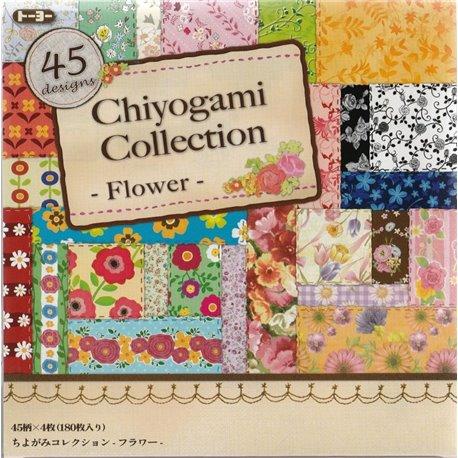 Origami papier 15x15 cm - Chiyogami collectie Bloemen