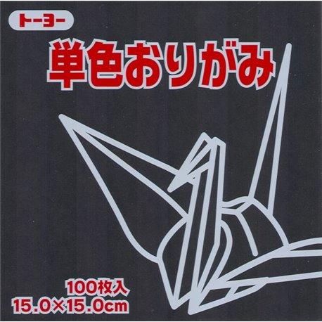 Eén kleur Origami 15 x 15 cm - Zwart