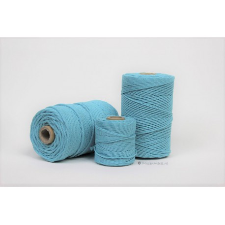 Eco Cotton Twine - Azuur Blauw - 1 mm