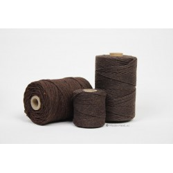 Eco Cotton Twine - Chocolade Bruin - 1 mm