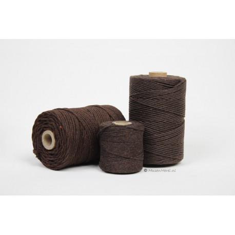 Eco Cotton Twine - Chocolade Bruin - 1 mm