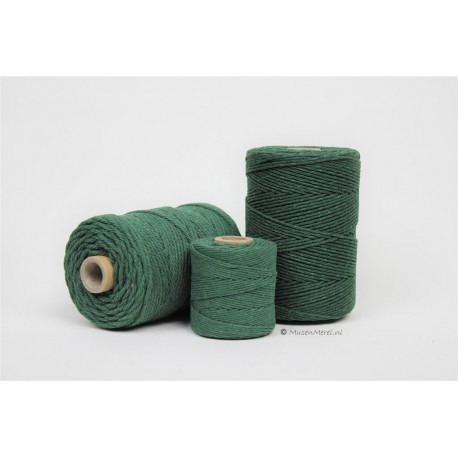 Eco Cotton Twine - Donker Groen - 1 mm