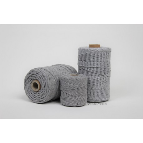 Eco Cotton Twine - Muis Grijs - 1 mm