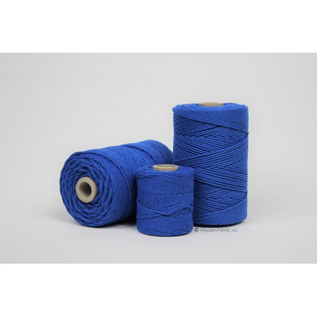 Eco Cotton Twine - Konings Blauw - 1 mm