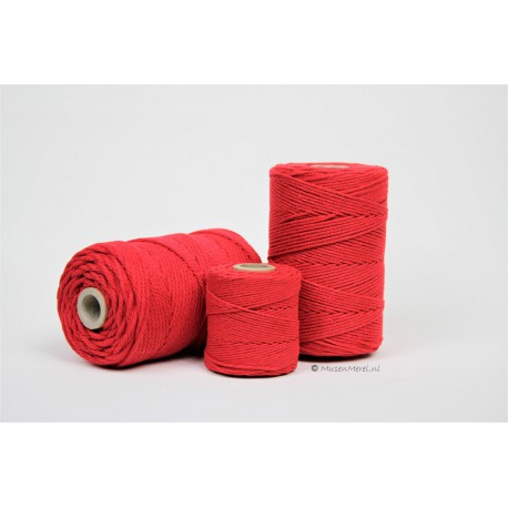 Eco Cotton Twine - Rood - 1 mm
