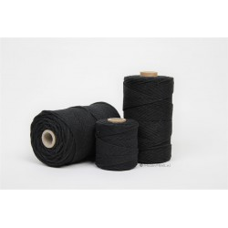 Eco Cotton Twine - Zwart - 1 mm